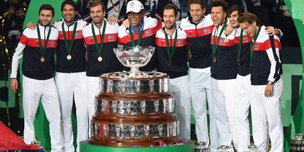 Frankreich triumphiert im Davis Cup
