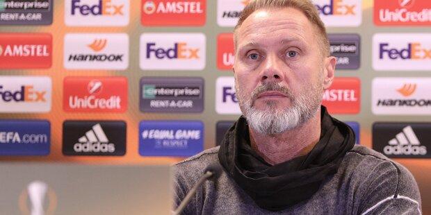 Trainer-Kritik: Dicke Luft bei Austria