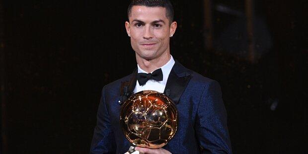 Zum 5. Mal: Ronaldo gewinnt Ballon d'Or