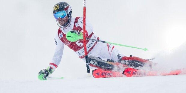 Das Slalom-Duell im Trentino
