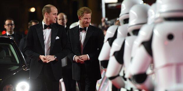 William & Harry bei Star Wars-Premiere