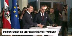 Neue Regierung: Das sagen Kurz & Strache