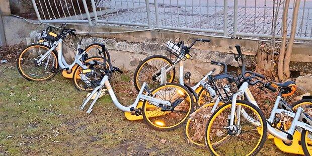'Friedhof' für Asia-Leihräder