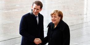 Kurz trifft deutsche Kanzlerin Merkel