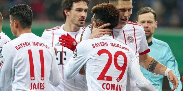 Bayern spazieren ins Cup-Halbfinale