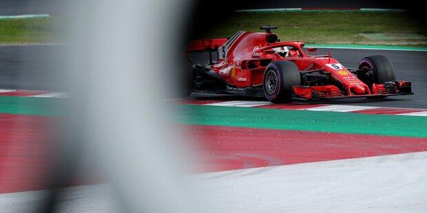 Vettel gewinnt GP trotz Rauch aus Heck