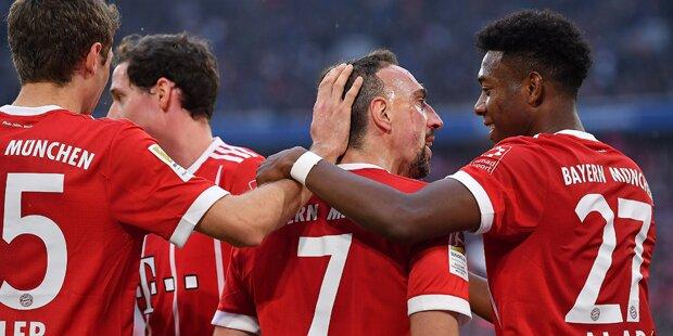 Bayern zerlegt HSV - Gregerl trumpft auf