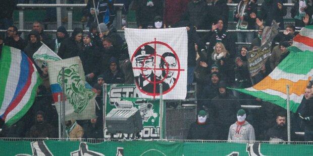 Rapid-Fans empören mit Kickl-Plakat