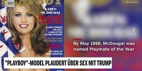 Trumps Playboy-Model sagt aus