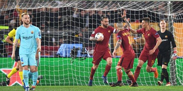 Sensation: AS Rom kickt Barcelona raus