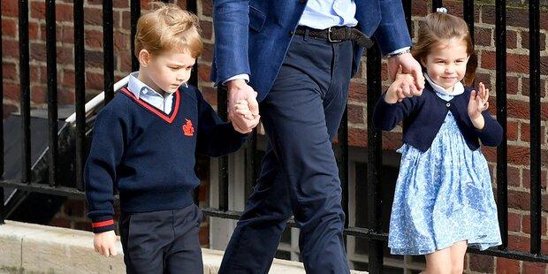 George & Charlotte besuchten Brüderchen