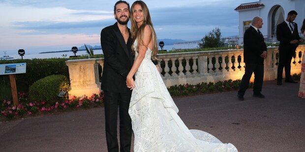 Klum & Kaulitz-Auftritt: Ihre Robe sieht aus wie ein Brautkleid