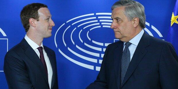 Zuckerberg hält EU am Schmäh