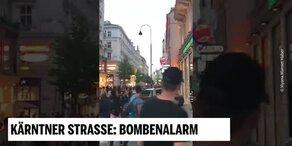 Bombenalarm auf Kärntner Straße wegen Rucksack