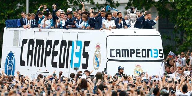 Tausende feierten Ronaldo & Co. in Madrid