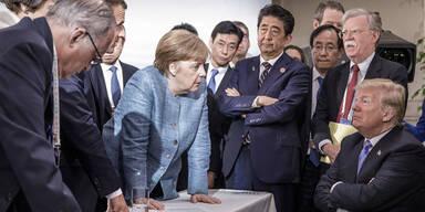 Merkel Trump G-7