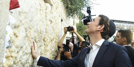 Netanjahu würdigt Kurz' Besuch an Klagemauer