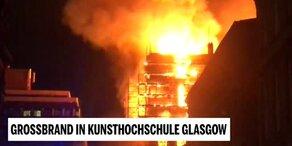 Großbrand in Kunsthochschule Glasgow