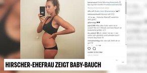 Hirschers Ehefrau zeigt Baby-Bauch