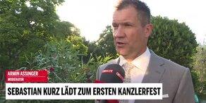 Promis beim Kanzlerfest im Interview