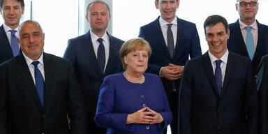 Merkel Kurz Asylgipfel