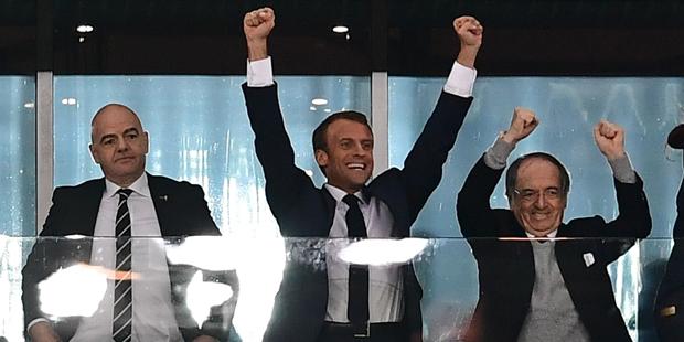 Macron Frankreich Fußball