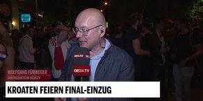 oe24.TV-Chefredakteur erlebt Jubelnacht der Kroaten