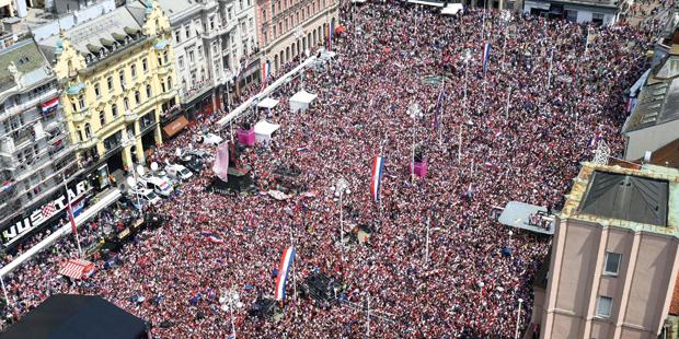 Kroatien WM Empfang Zagreb