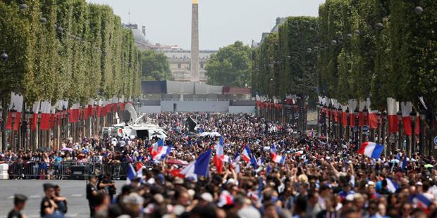 Empfang WM Paris Frankreich