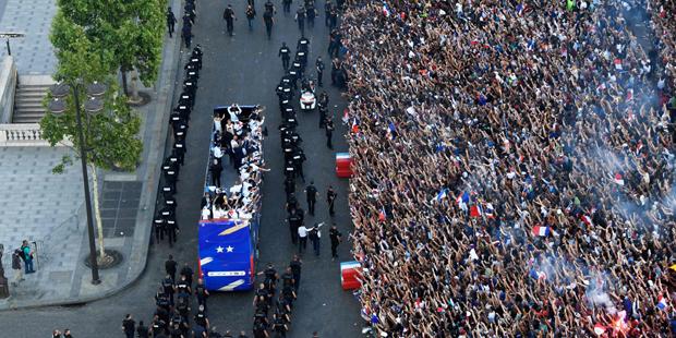 WM Frankreich Paris Empfang