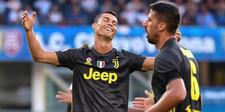 Ronaldo geht bei Juve-Debüt leer aus