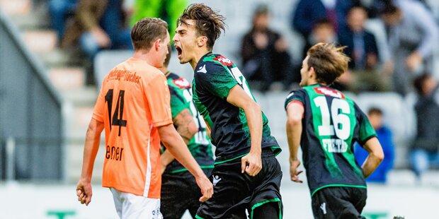 Innsbruck gewann Aufsteiger-Duell mit Hartberg 2:1