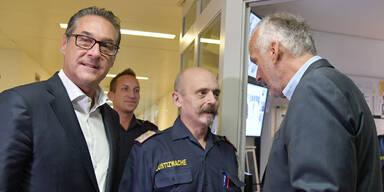 Strache im Häfen: Alarm während Politiker-Besuchs