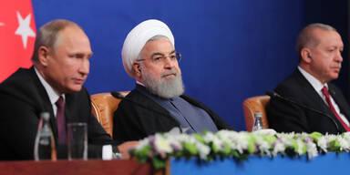 Gipfel: Putin, Erdogan und Rouhani wollen IS in Syrien vernichten