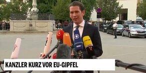 Kanzler Kurz vor dem EU-Gipfel