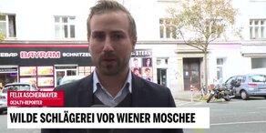 Schlägerei vor Wiener Moschee