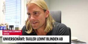 Unverschämt: Taxler lehnt Blinden ab