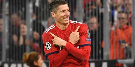 Lewy-Doppelpack rettet Bayern vor Blamage