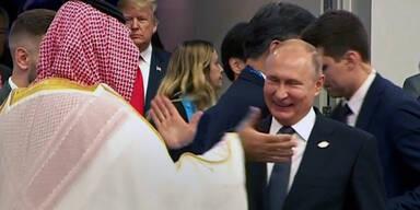 Trotz Mord-Komplott witzelt Putin mit Salman