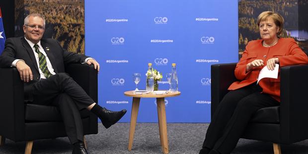 Merkel Morrison Spickzettel G20