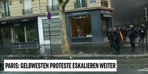 'Gelbwesten'-Proteste legen Paris lahm