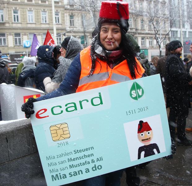 Demo Regierung Wien dezember 2018