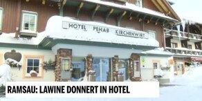 Ramsau: Lawine donnert in Hotel