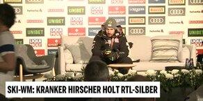 Marcel Hirscher nach seinem Silber-Erfolg