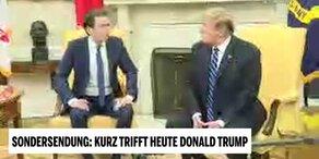 Kurz traf Trump - Der Handshake