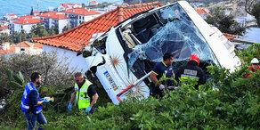 Touristenbus verunglückt: 29 Deutsche starben auf Madeira
