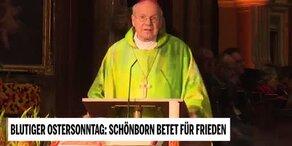 Blutiger Ostersonntag: Schönborn betet für Frieden