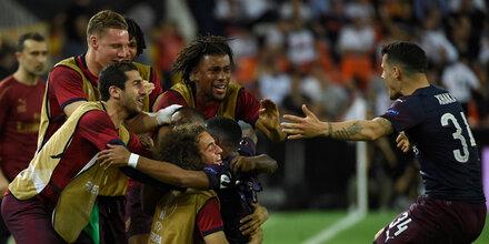 Aubameyang-Dreierpack bringt Arsenal ins EL-Finale