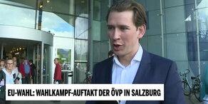Wahlkampf-Auftakt der ÖVP in Salzburg: Interview mit Kanzler Kurz