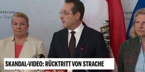 Strache erklärt seinen Rücktritt